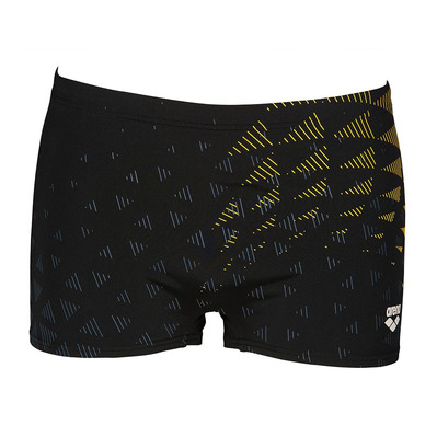 ARENA - ONE TUNNEL VISION - Boxer de bain Homme black/yellow star