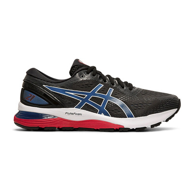 ASICS - GEL-NIMBUS 21 - Zapatillas de running hombre black/electric blue