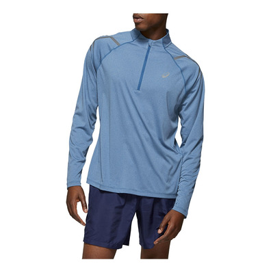 ASICS - ICON LS 1/2 ZIP TOP DEEP SAPPHIRE HEATHER Homme