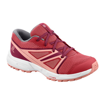 SALOMON - SENSE - Chaussures randonnée Junior garnet rose/beet red/coral almond