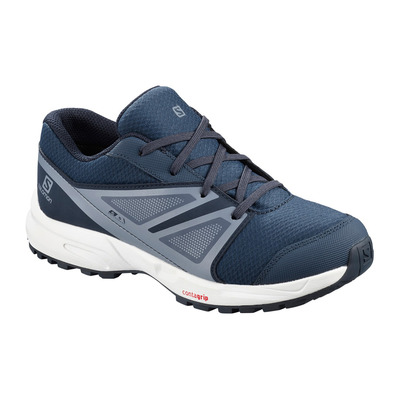 SALOMON - SENSE CSWP - Chaussures randonnée Junior sargasso sea/navy blazer/flint