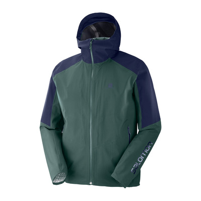 SALOMON - OUTLINE - Jacket - Men's - green gab/night sky