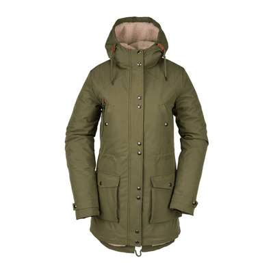 VOLCOM - WALK ON BY 5K - Parka mujer army green combo