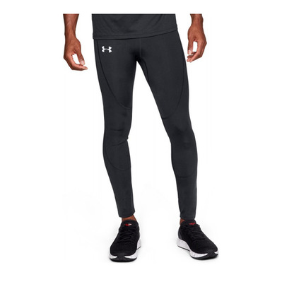 UNDER ARMOUR - COLDGEAR RUN - Mallas hombre black/black/reflective