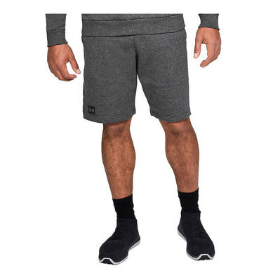 UNDER ARMOUR - RIVAL FLEECE - Short Homme charcoal light heather