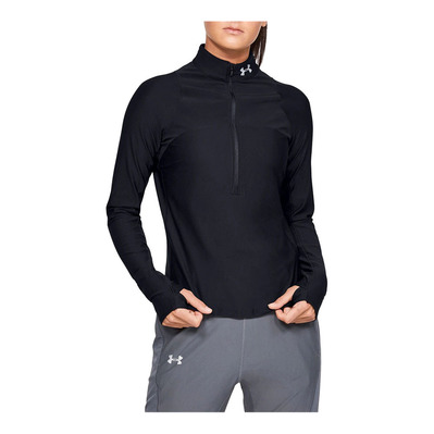 UNDER ARMOUR - QUALIFIER - Camiseta mujer black