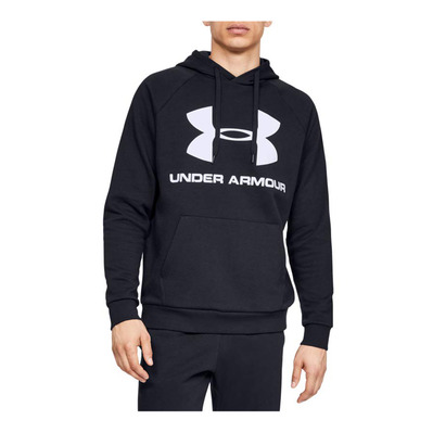 UNDER ARMOUR - RIVAL FLEECE SPORTSTYLE LOGO HOODIE-BLK Homme Black1345628-001