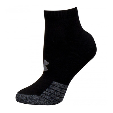 UNDER ARMOUR - HEATGEAR LOCUT - Calcetines x3 black/black/steel