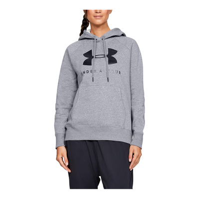 UNDER ARMOUR - RIVAL FLEECE SPORTSTYLE GRAPHIC HOODIE-G Femme Steel Medium Heather1348550-035