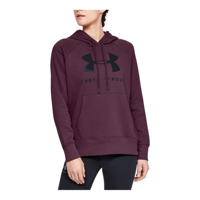 UNDER ARMOUR - RIVAL FLEECE SPORTSTYLE GRAPHIC - Sweat Femme level purple