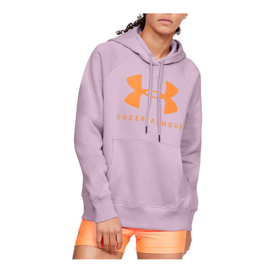 UNDER ARMOUR - RIVAL FLEECE SPORTSTYLE GRAPHIC - Sweat Femme pink fog