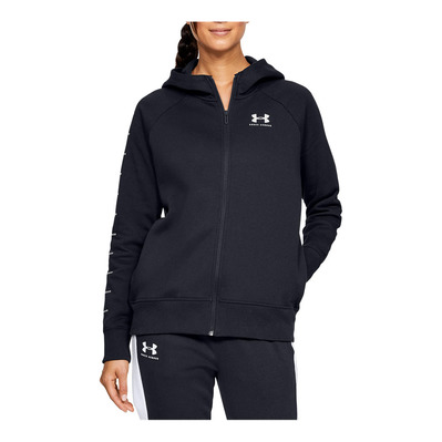 UNDER ARMOUR - RIVAL FLEECE SPORTSTYLE LC GRAPHI - Felpa Donna black