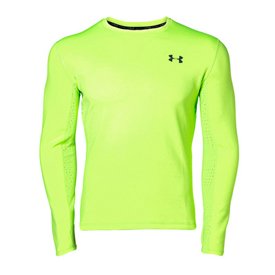 UNDER ARMOUR - QUALIFIER COLDGEAR - Maillot Homme lime light