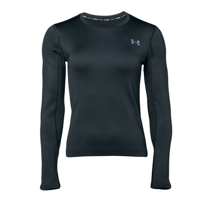 UNDER ARMOUR - QUALIFIER COLDGEAR - Camiseta mujer black