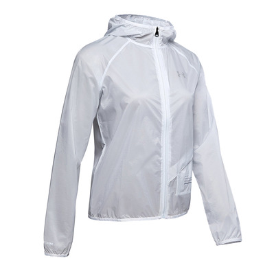 UNDER ARMOUR - QUALIFIER STORM GRAPHIC RUN - Veste Femme halo gray