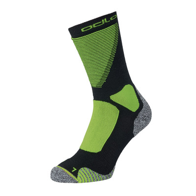 ODLO - CERAMIWARM XC - Chaussettes black/safety yellow