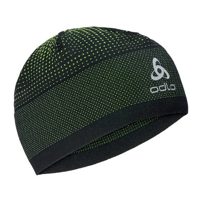 ODLO - VELOCITY CERAMIWARM - Bonnet black/safety yellow