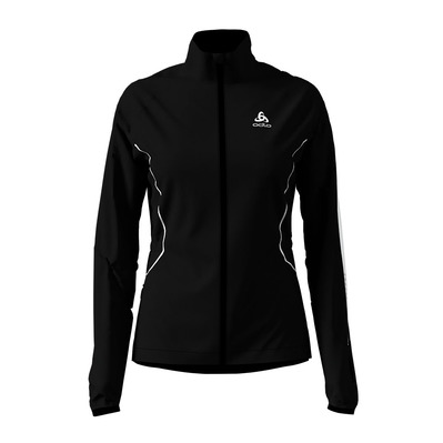 ODLO - WINDPROOF WARM - Chaqueta mujer black/reflective print