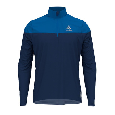 ODLO - Pull 1/2 zip CERAMIWARM ELEMENT Homme estate blue - directoire blue