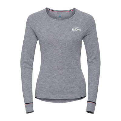 ODLO - T-Shirt ML ACTIVE WARM Originals Femme grey melange