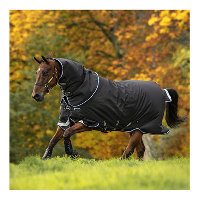 HORSEWARE - AMIGO BRAVO 12 PLUS - Manta de paddock 250g black/str blue/black