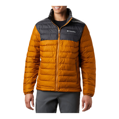 COLUMBIA - Powder Lite Jkt-Burnished Amber Homme Burnished Amber, Shark