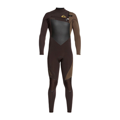 QUIKSILVER - HIGHLINE PLUS - Tuta 4/3mm Uomo velvet brown/dark b