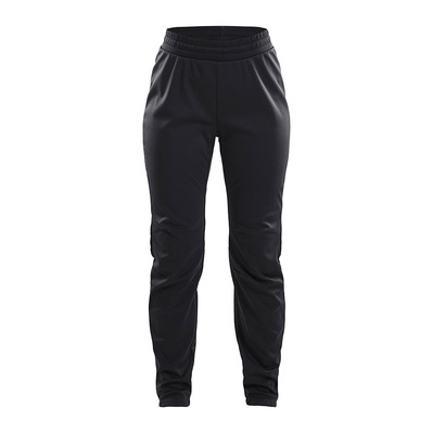 CRAFT - WARM TRAIN - Pantalon Femme black/grey/tran