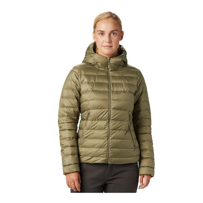 MOUNTAIN HARDWEAR - RHEA RIDGE HOODY - Down Jacket - Women's - light army