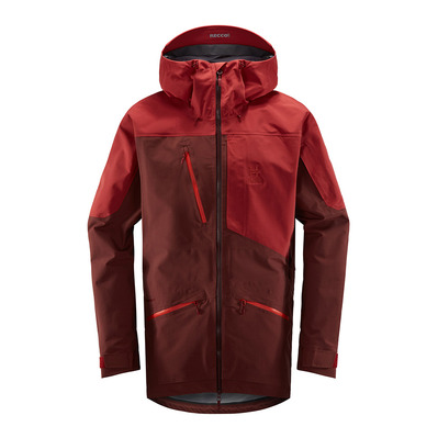 HAGLOFS - NENGAL 3L PROOF - Ski Parka - Men's - maroon red/brick red