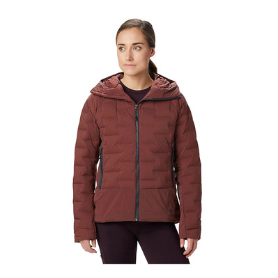 MOUNTAIN HARDWEAR - SUPER DS HOODY - Anorak mujer dark umber