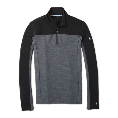 SMARTWOOL - M MS 250 LS 1/4 Zip Homme BLACK