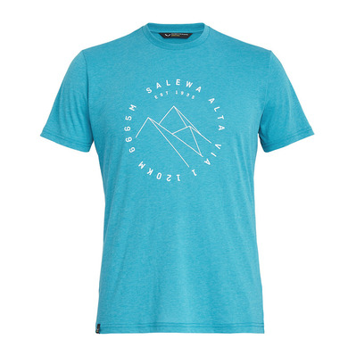 SALEWA - ALTA VIA DRI-REL - T-Shirt - Men's - ocean melange
