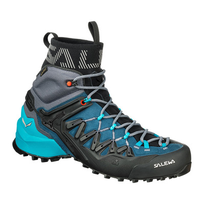 SALEWA - WILDFIRE EDGE MID GTX - Approach Shoes - Women's - poseidon/g