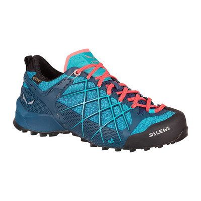 SALEWA - WILDFIRE GTX - Approach Shoes - Women's - poseidon/c