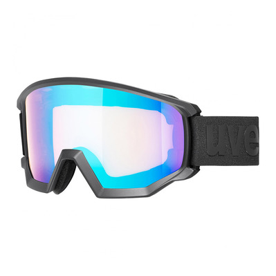 UVEX - ATHLETIC CV - Gafas de esquí black mat/mirror blue vista