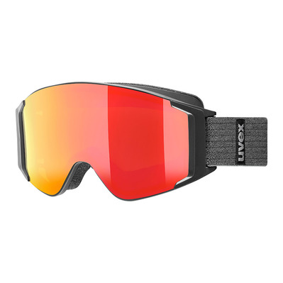 UVEX - G.GL 3000 TO - Gafas de esquí black mat/mirror red + lasergold lite clear