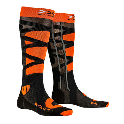 X-SOCKS - CONTROL 4.0 - Chaussettes ski anthracite/or