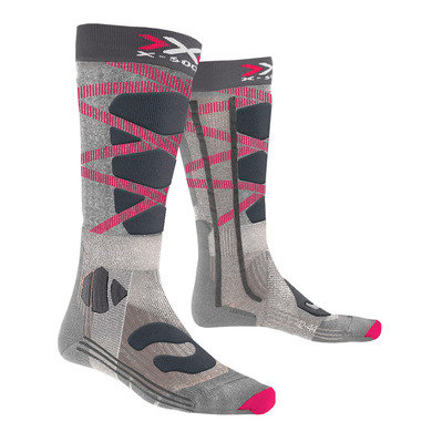 X-SOCKS - CONTROL 4.0 - Skisocken Frauen grey/fushia