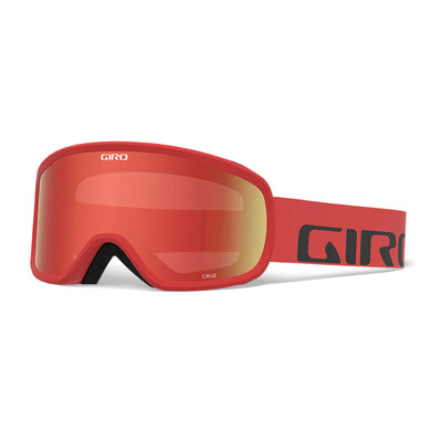 GIRO - CRUZ - Masque ski red wordmark amber scarlet