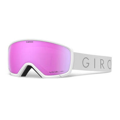 GIRO - RINGO - Masque ski Femme white core light vivid pink