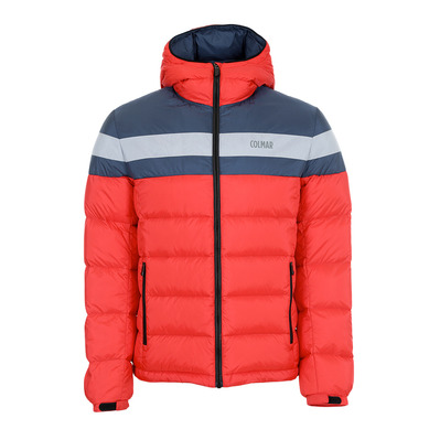 COLMAR - HOODED PUFFY DOWN - Doudoune Homme bright red/blue black