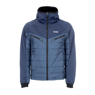 COLMAR - HOODED HYBRID - Doudoune Homme blue black