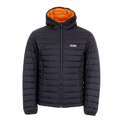 COLMAR - HOODED PRIMALOFT QUILTED - Doudoune Homme black/orange pop