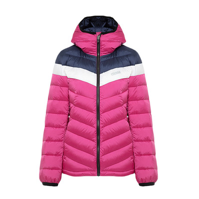 COLMAR - HOODED PUFFY DOWN - Doudoune Femme cyclamen/blue black