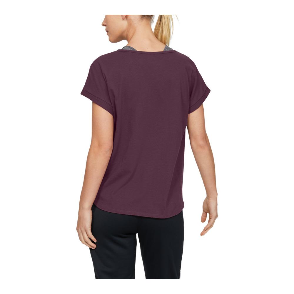 Femme Under Armour UA graphique Script Logo T-shirt violet