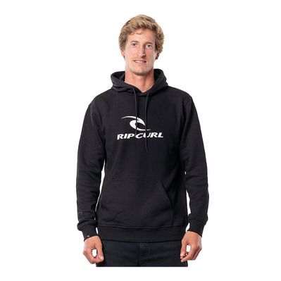 RIP CURL - SURF CO. HOODED POP OVER FLEEC Homme BLACK