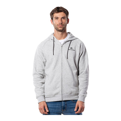 RIP CURL - SURF CO. HOODED ZIP THROUGH FL Homme CEMENT MARLE