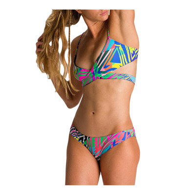 ARENA - W TRIANGLE TWO PIECE REVERSIBLE Femme ASH GREY MULTI-BLACK