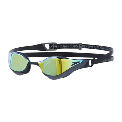 SPEEDO - FASTSKIN ELITE MIRROR - Gafas de natación black/gold